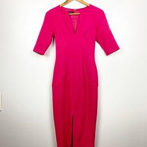 TED BAKER | Pink midi Bodycon pencil midi | 0